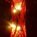 Roestpaneel lampje rood met licht